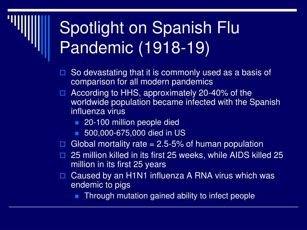 Spotlight on Spanish Flu Pandemic (1918-19)