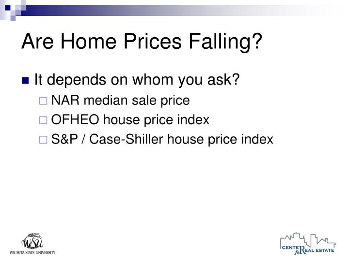 Are Home Prices Falling?