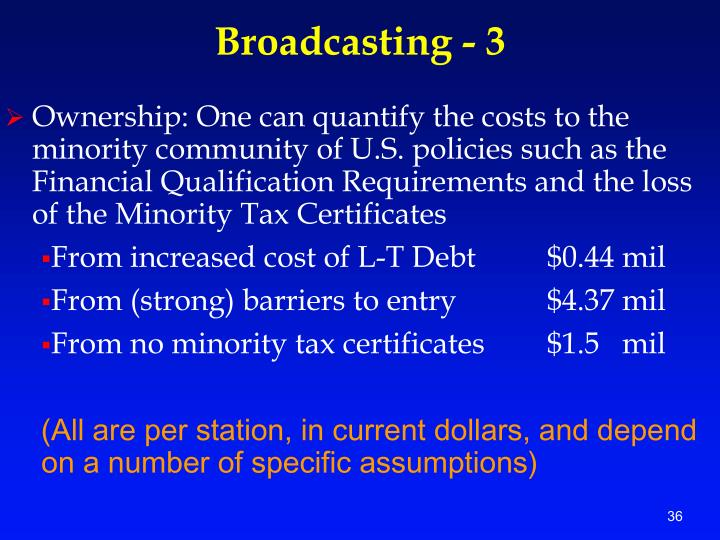 Broadcasting - 3