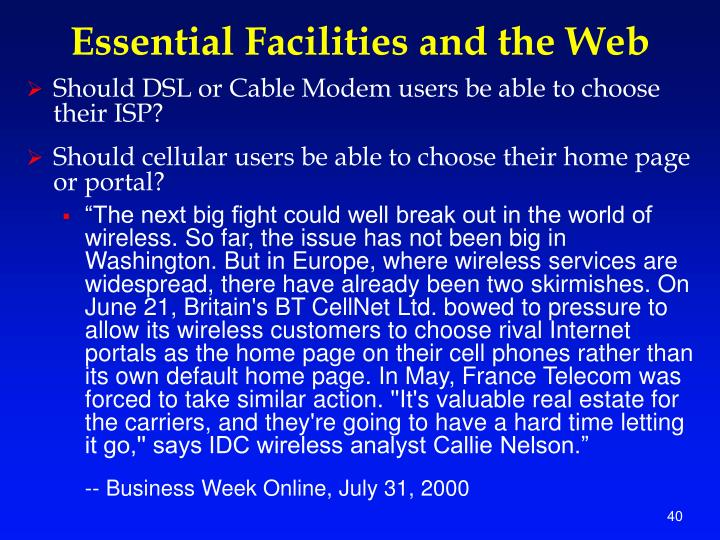 Essential Facilities and the Web