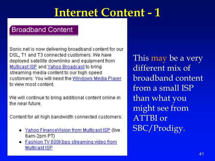Internet Content - 1