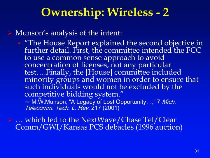 Ownership: Wireless - 2