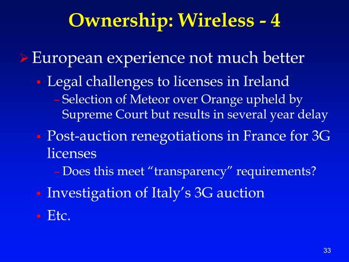 Ownership: Wireless - 4