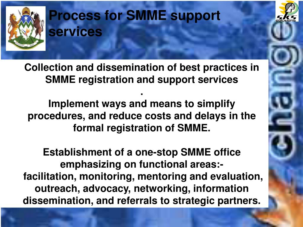 Process for SMME support services