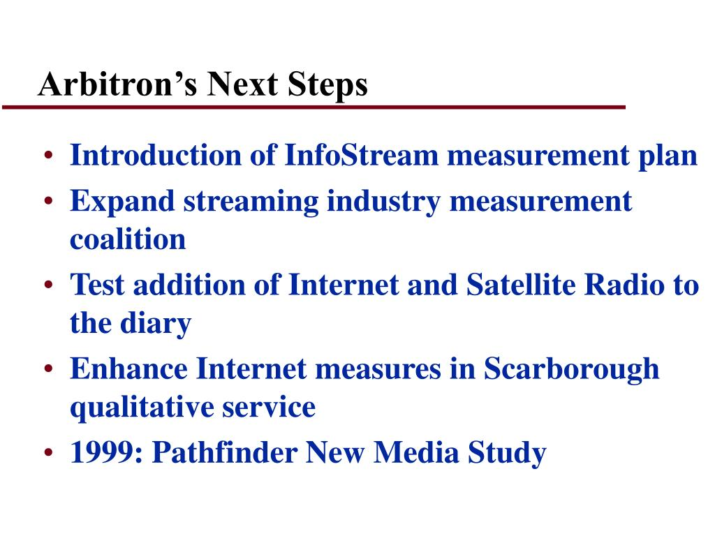 Arbitron's Next Steps