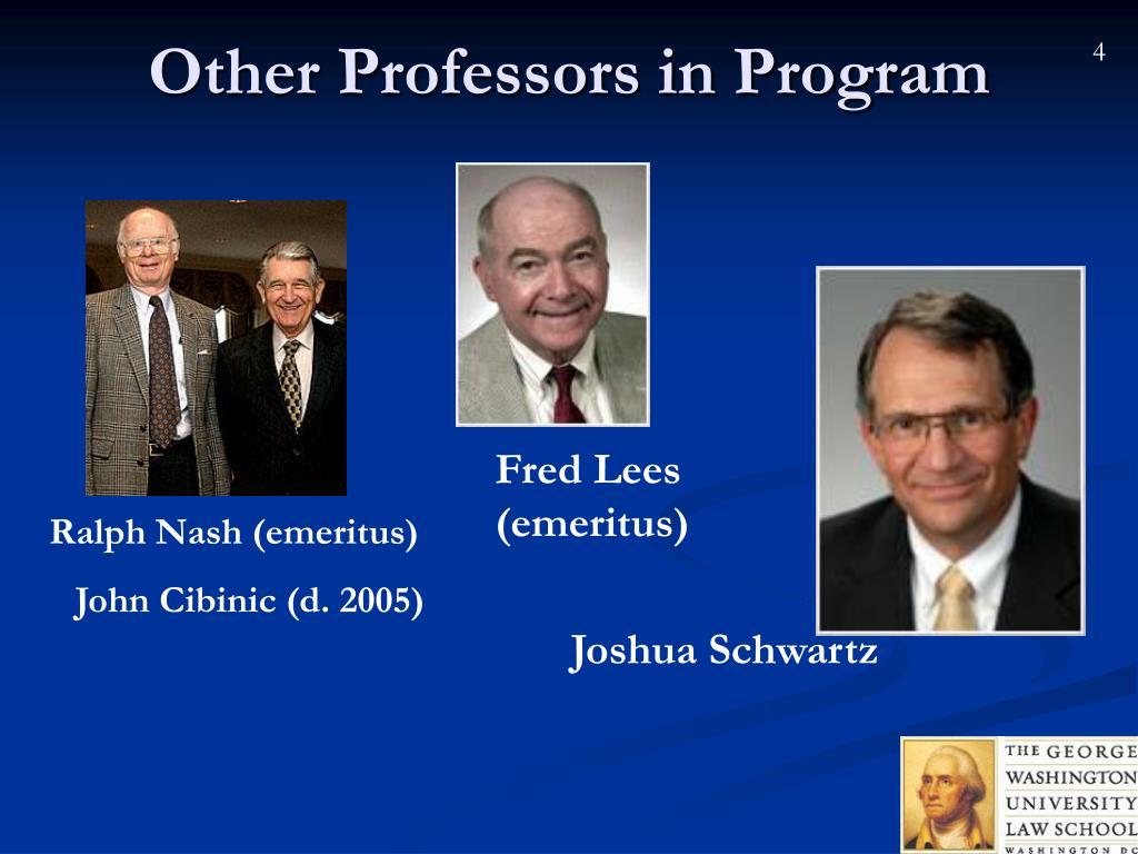 Other Professors in Program