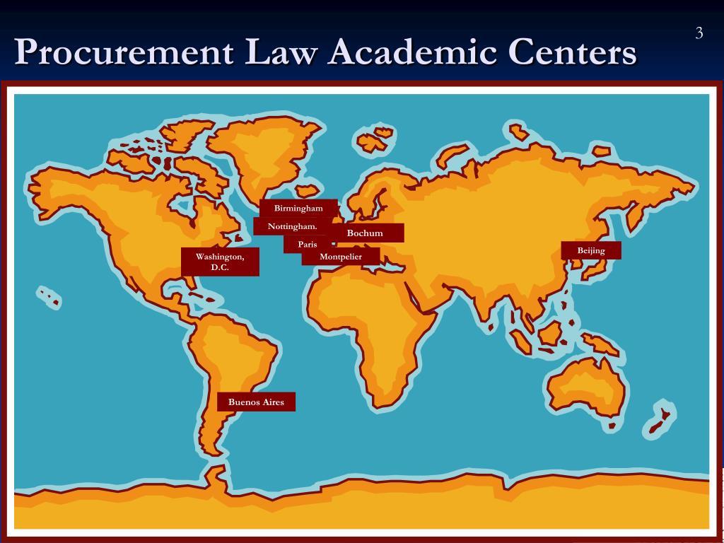 Procurement Law Academic Centers
