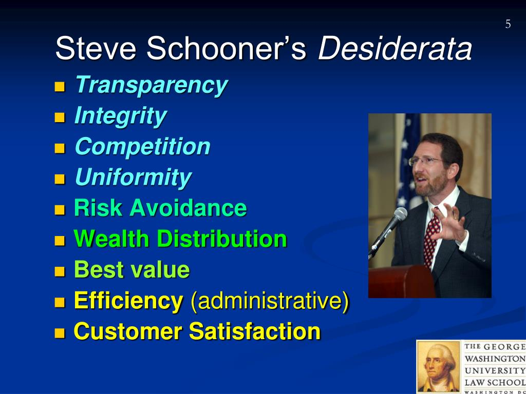 Steve Schooner's