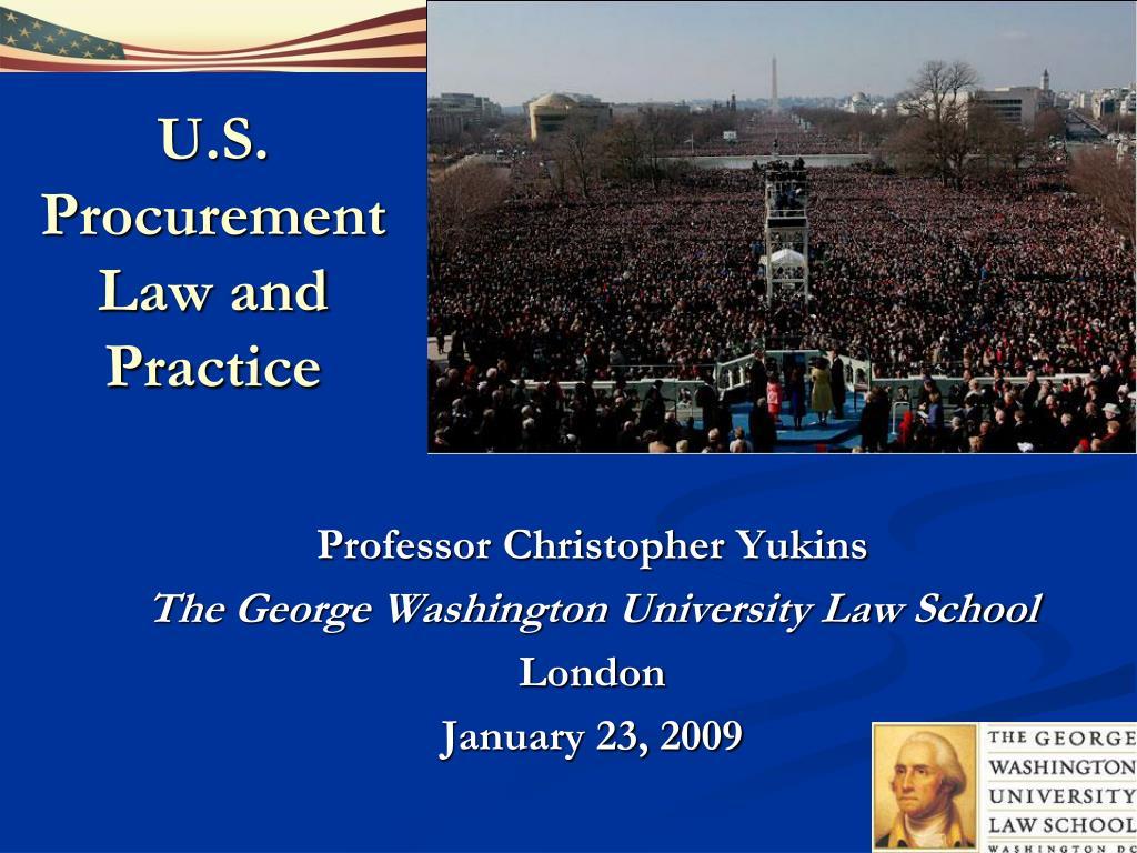 U.S. Procurement Law and Practice
