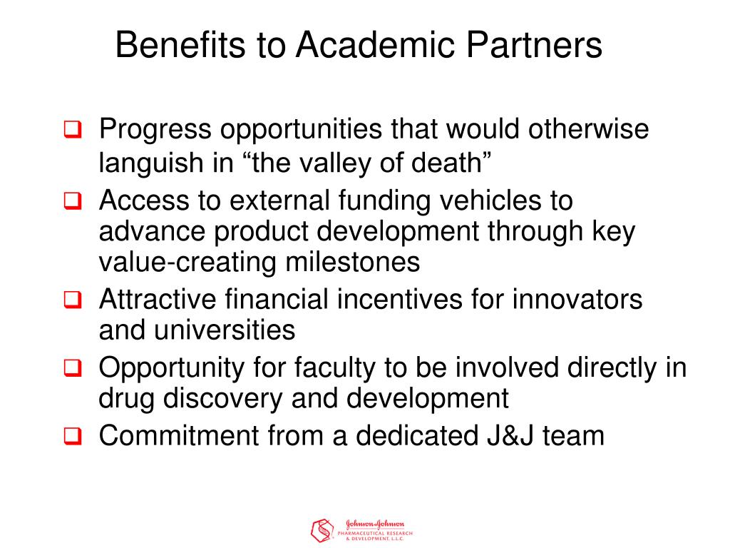Benefits to Academic Partners