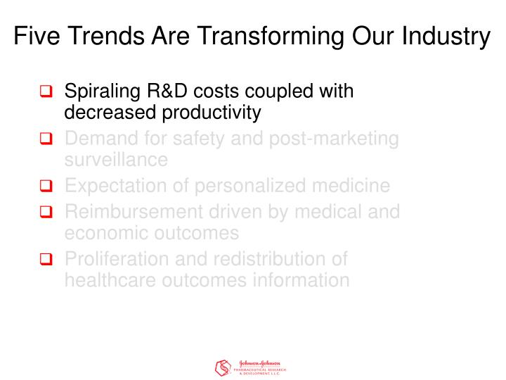 Five trends are transforming our industry3