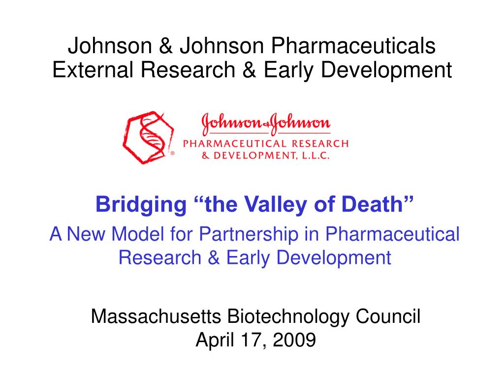 Johnson & Johnson Pharmaceuticals External Research & Early Development
