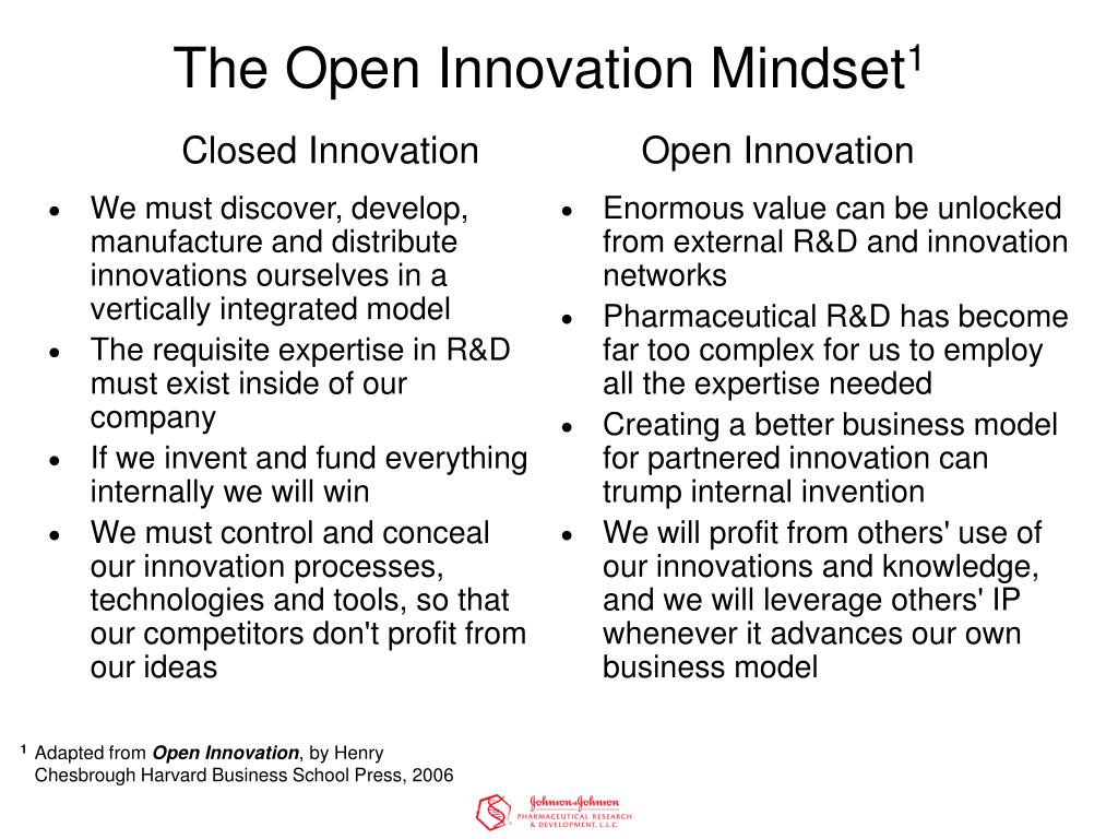 We must discover, develop, manufacture and distribute innovations ourselves in a vertically integrated model