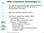 other e commerce technologies 1