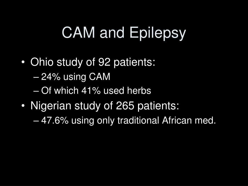 CAM and Epilepsy