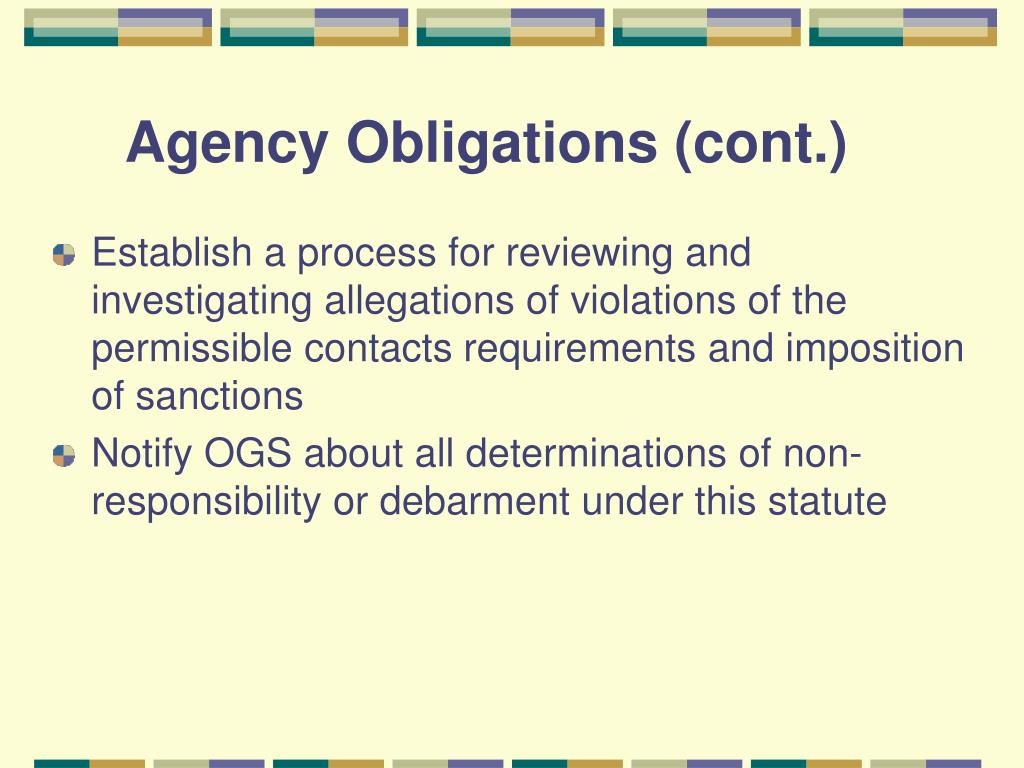 Agency Obligations (cont.)