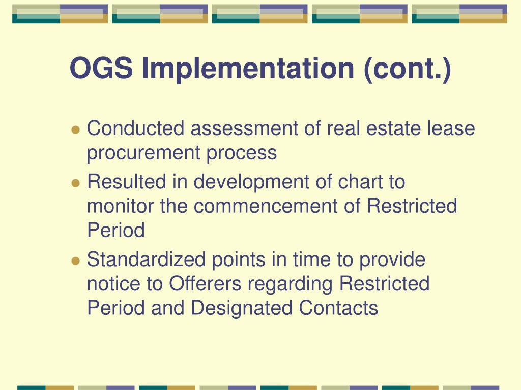 OGS Implementation (cont.)