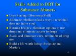 skills added to dbt for substance abusers