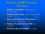 structure of dbt treatment functions