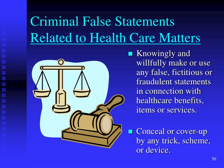 Criminal False Statements