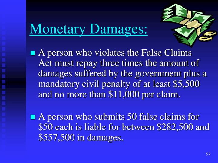 Monetary Damages: