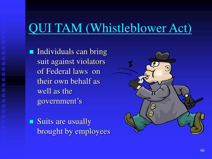QUI TAM (Whistleblower Act)
