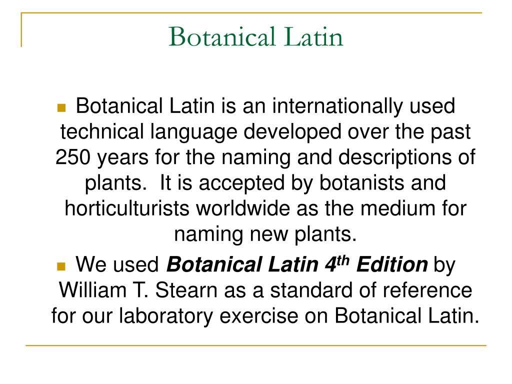 Botanical Latin