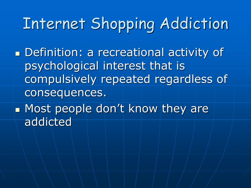 internet shopping addiction l.