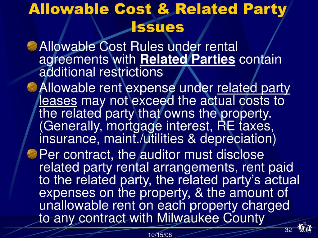 Allowable Cost & Related Party Issues