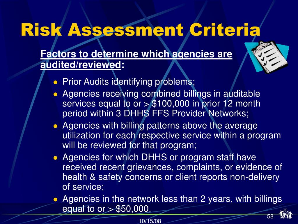 Risk Assessment Criteria