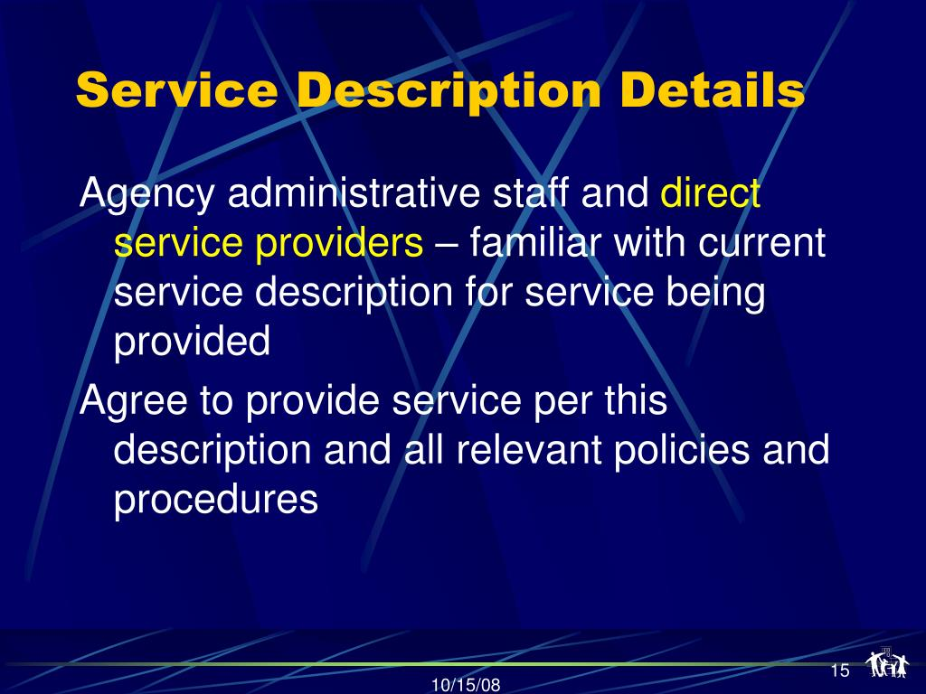 Service Description Details