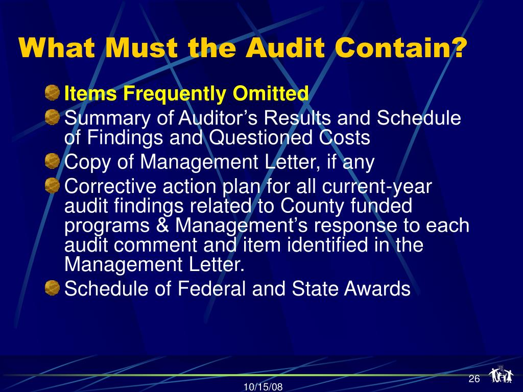 What Must the Audit Contain?