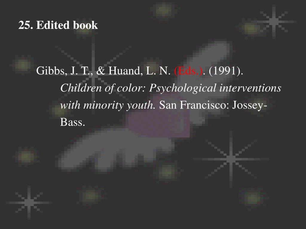 25. Edited book