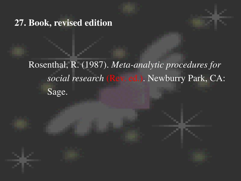 27. Book, revised edition
