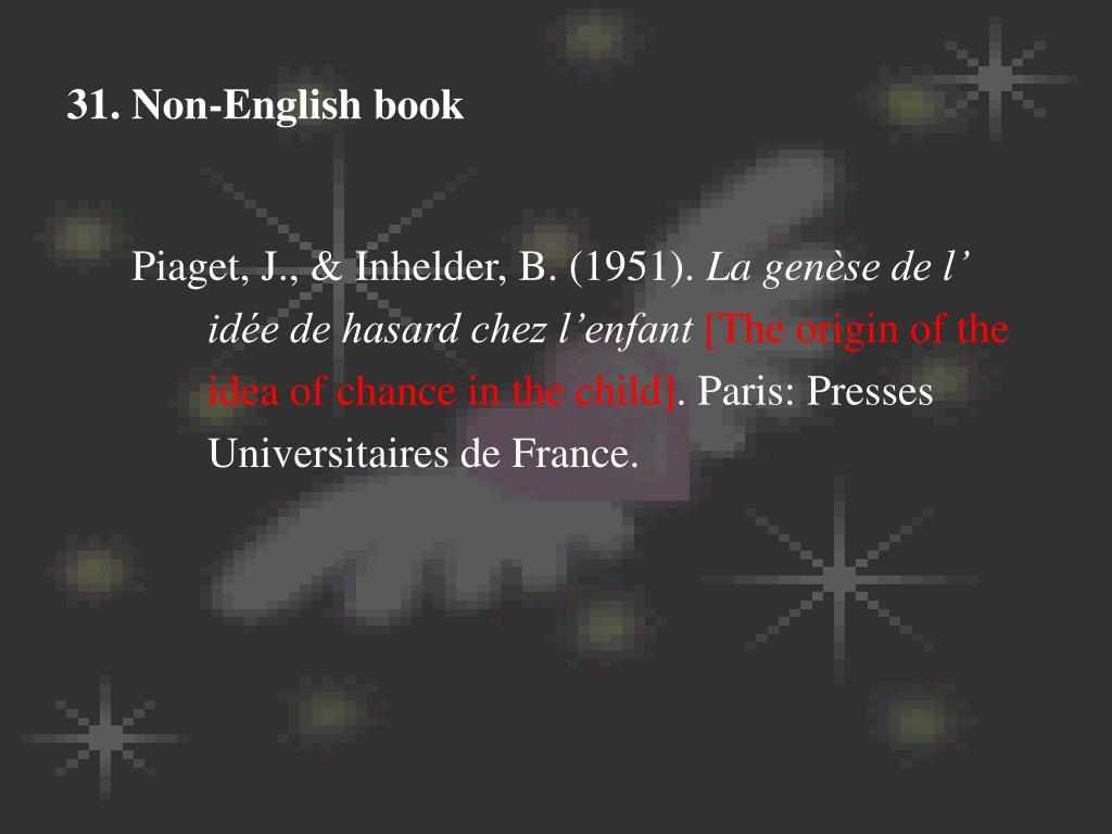 31. Non-English book