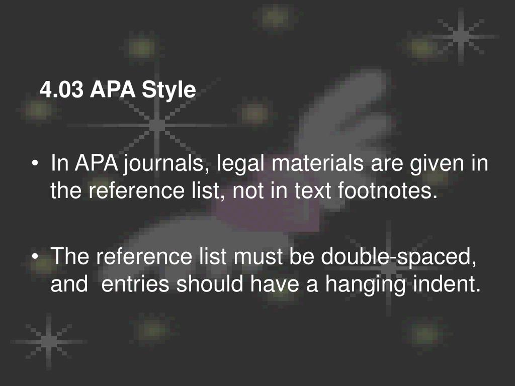 4.03 APA Style