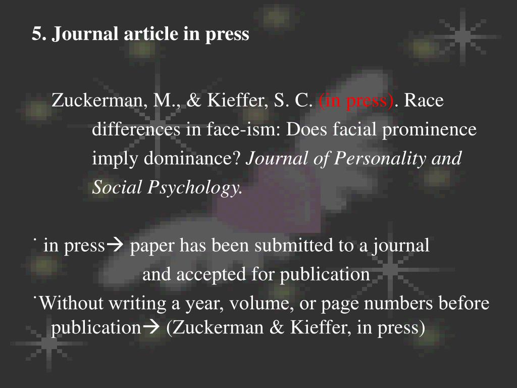 5. Journal article in press