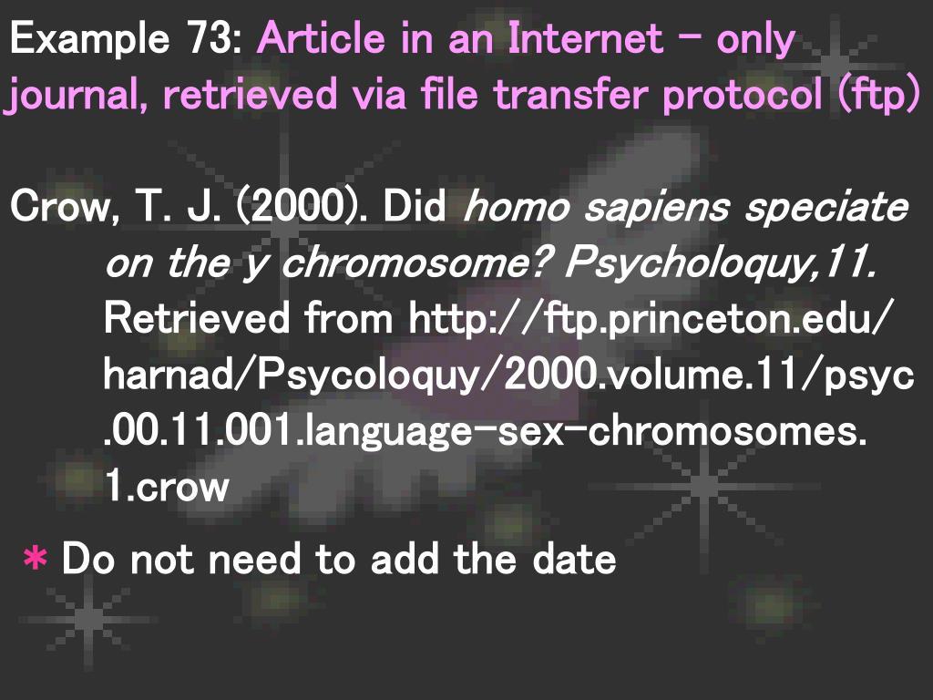 Example 73:
