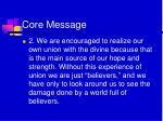 core message1