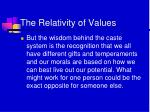 the relativity of values2