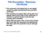file encryption recovery certificate