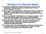 windows c 2 security model