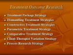 treatment outcome research