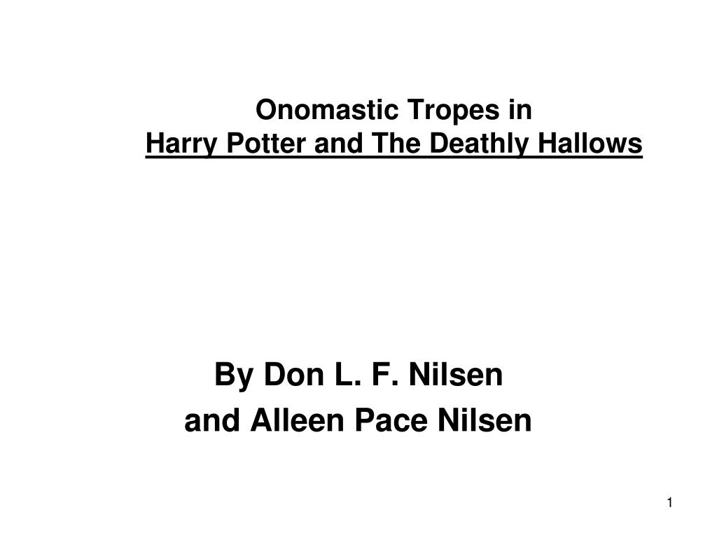 onomastic tropes in harry potter and the deathly hallows l.