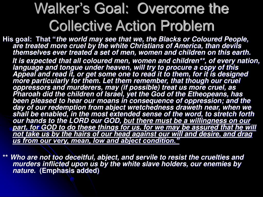 Walker's Goal:  Overcome the