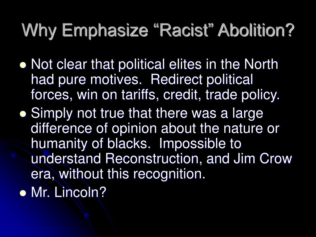 """Why Emphasize """"Racist"""" Abolition?"""