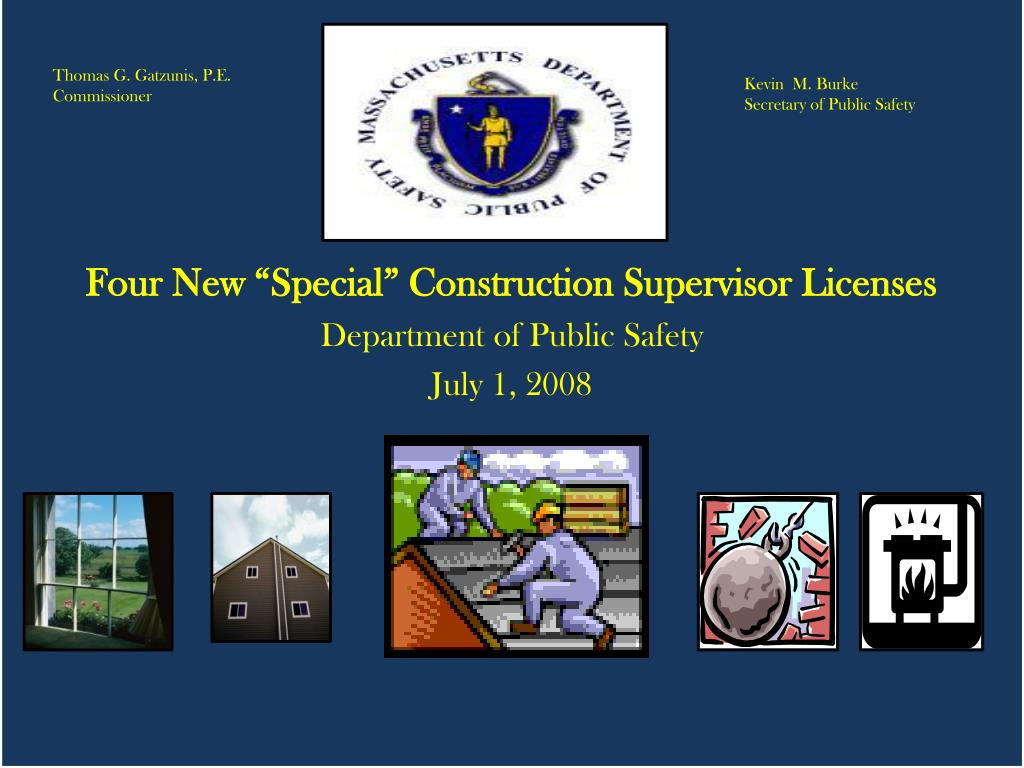 special grandfathered construction supervisor licence l.