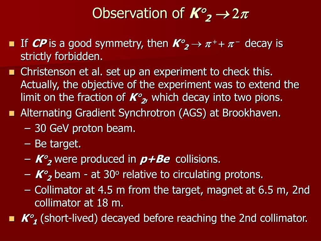 Observation of