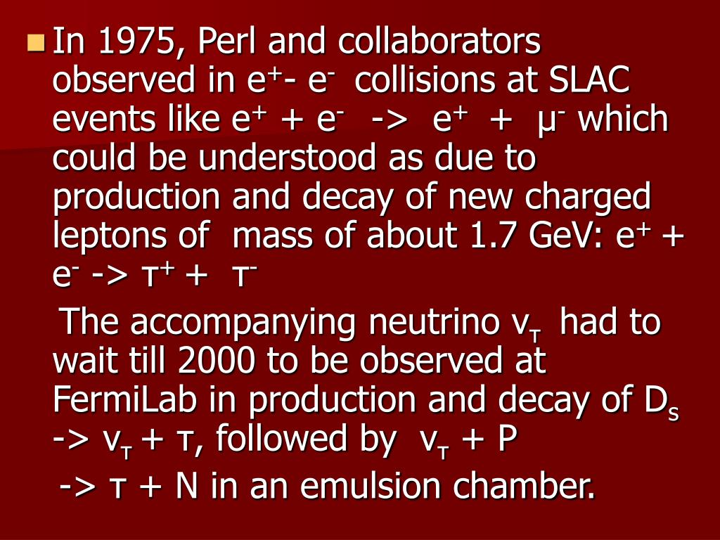 In 1975, Perl and collaborators observed in e
