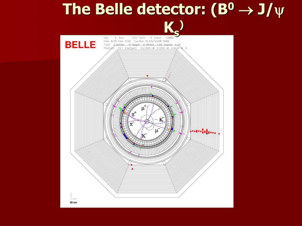 The Belle detector: (B